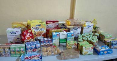 Alimentos infantiles recaudados en el torneo de baloncesto