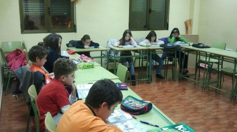 Una de las clases para aprender inglés
