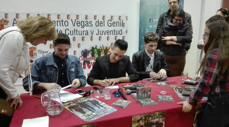 Sognare firmó discos e intercambió opiniones con sus seguidores