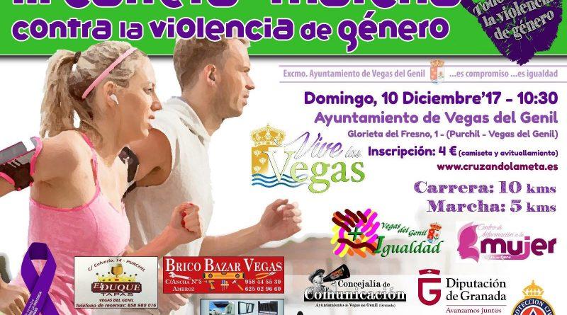 Vegas del Genil organiza una carrera de 10 kilómetros contra la violencia de género