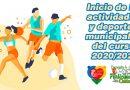 Inicio de las actividades y deportes municipales