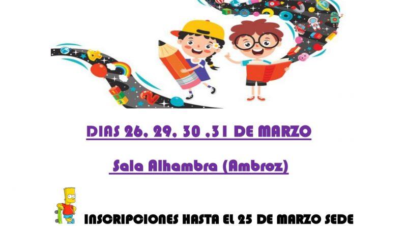 Escuela de vacaciones (Semana Santa 2021)
