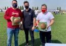 150 futbolistas de entre 6 y 12 años de toda la provincia participan en el 'Reto Supérate' en Vegas del Genil